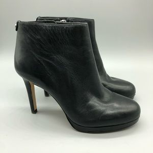 Michael Kors Sammy black leather Stiletto booties